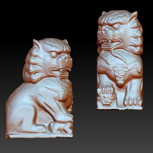 狮子立体圆雕图(YSX-082)