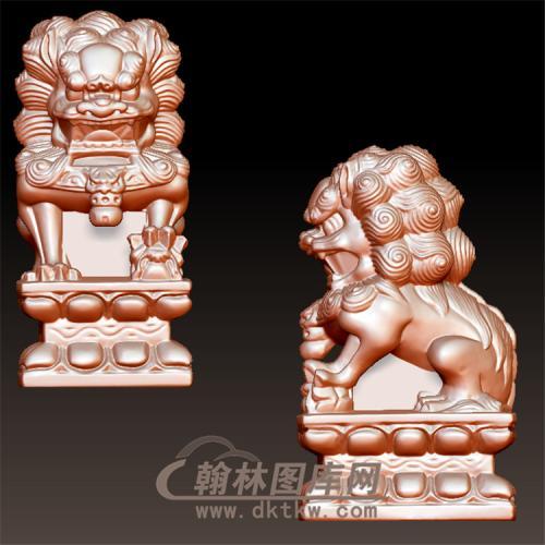 狮子立体圆雕图(YSX-084)