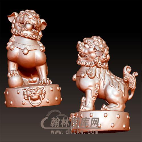 狮子雄立体圆雕图(YSX-083)