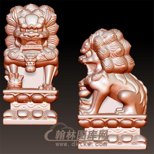 狮子立体圆雕图(YSX-086)