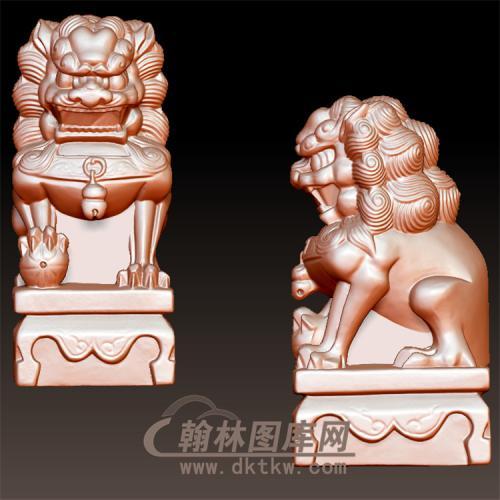 狮子立体圆雕图(YSX-087)