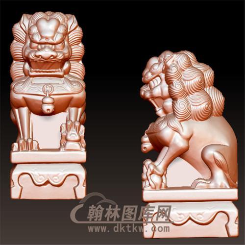 狮子立体圆雕图(YSX-088)