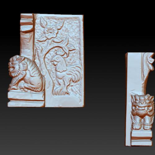 狮子立体圆雕图(YSX-089)