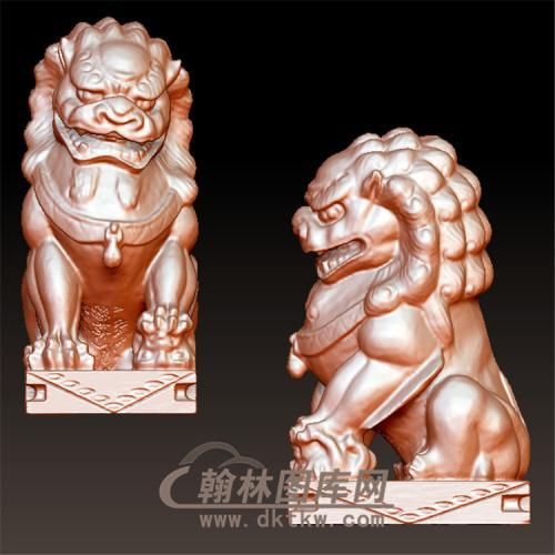 狮子立体圆雕图(YSX-092)