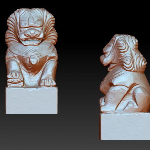 狮子立体圆雕图(YSX-093)