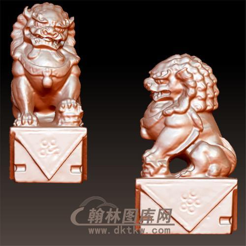 狮子立体圆雕图(YSX-094)