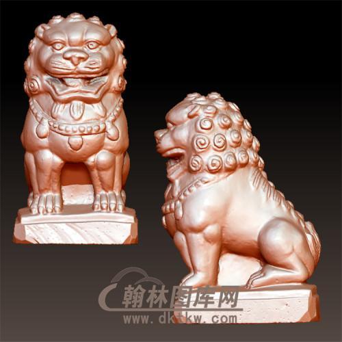 狮子立体圆雕图(YSX-101)