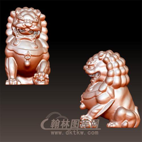 狮子立体圆雕图(YSX-102)