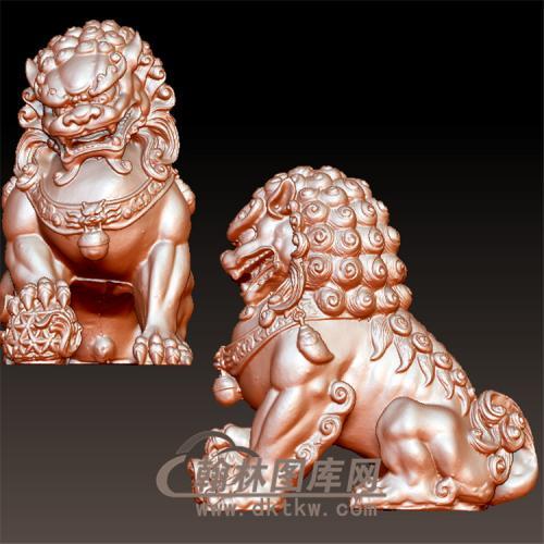 狮子立体圆雕图(YSX-103)