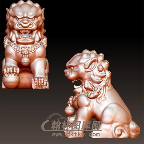 狮子公立体圆雕图(YSX-104)