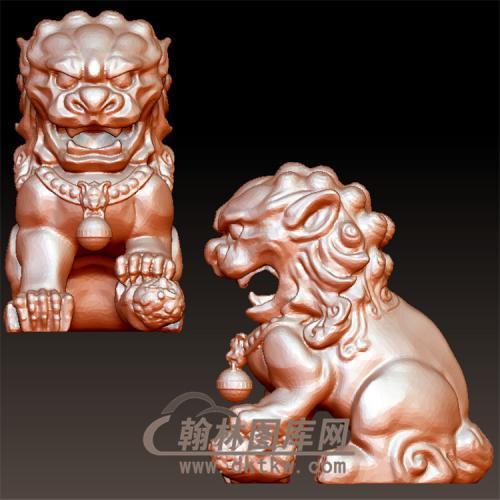 狮子母立体圆雕图(YSX-105)