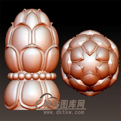 莲花柱立体圆雕图(YZT-032)