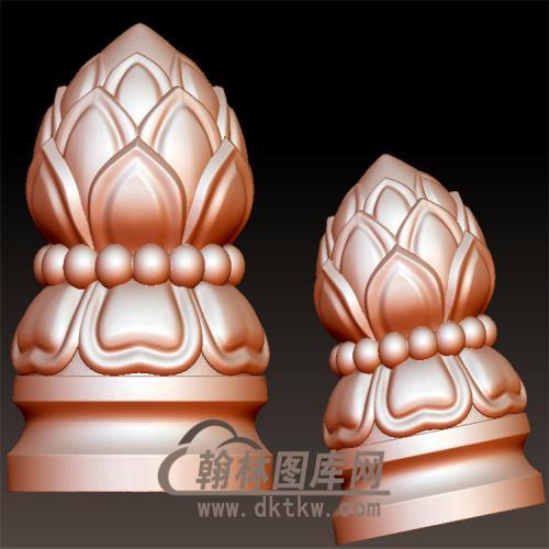 莲花柱立体圆雕图(YZT-038)