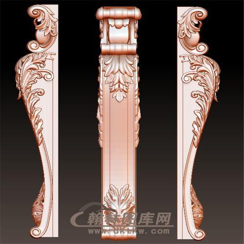 欧式罗马柱柱子壁炉托梁立体圆雕图(YZT-041)