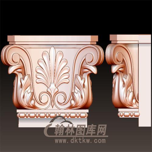 欧式罗马柱柱头立体圆雕图(YZT-043)