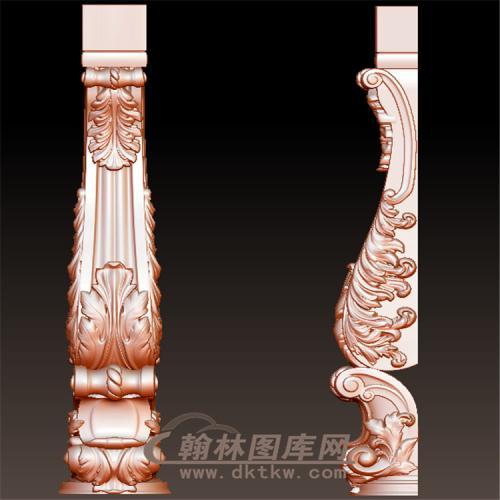 欧式洋花罗马柱托梁长桌腿立体圆雕图(YZT-045)
