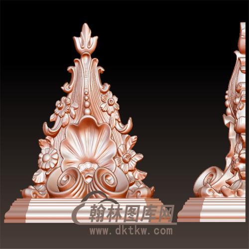 欧式洋花罗马柱柱台托梁墙壁装饰立体圆雕图(YZT-046)