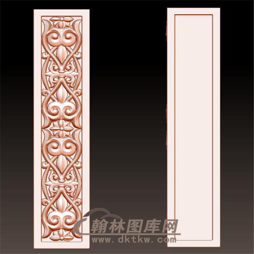 欧式洋花罗马柱柱子托梁墙壁装饰方柱立体圆雕图(YZT-048)