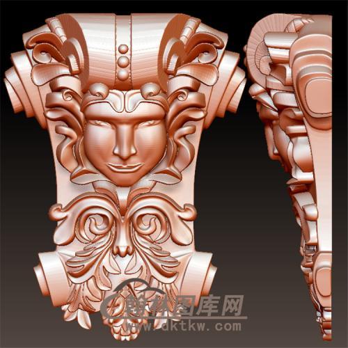 欧式洋花人脸人头天使头罗马柱托梁贴片立体圆雕图(YZT-051)