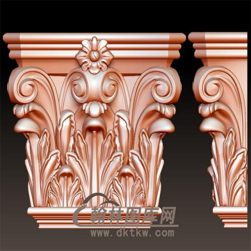 欧式洋花柱子柱台罗马柱托梁立体圆雕图(YZT-053)
