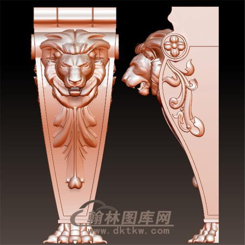 狮子头罗马柱托梁欧式立体圆雕图(YZT-055)