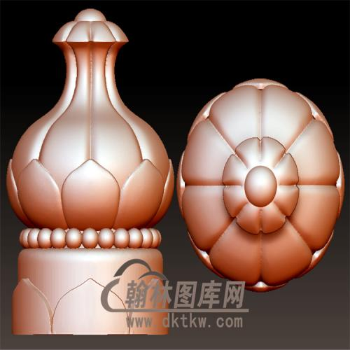 石榴柱子立体圆雕图(YZT-056)