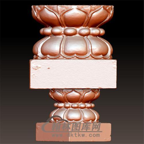 莲花柱头立体圆雕图(YZT-060)