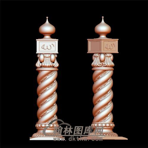 栏杆立体圆雕图(YLG-001)