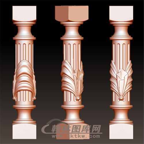 精品欧式柱子楼梯栏杆立体圆雕图(YLG-016)
