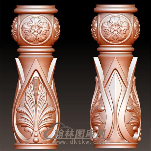 欧式柱子楼梯栏杆短立体圆雕图(YLG-017)