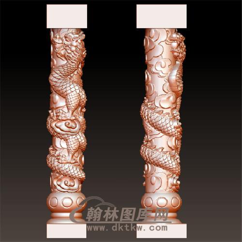 盘龙柱立体圆雕图(YLZ-006)