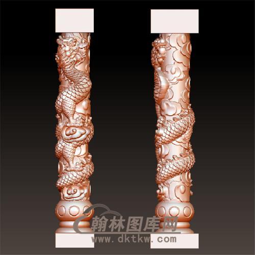 龙柱圆雕图(YLZ-007)