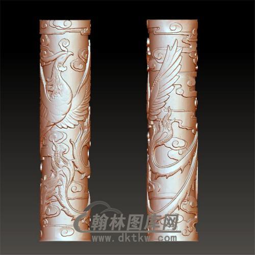 凤柱立体圆雕图(YML-012)