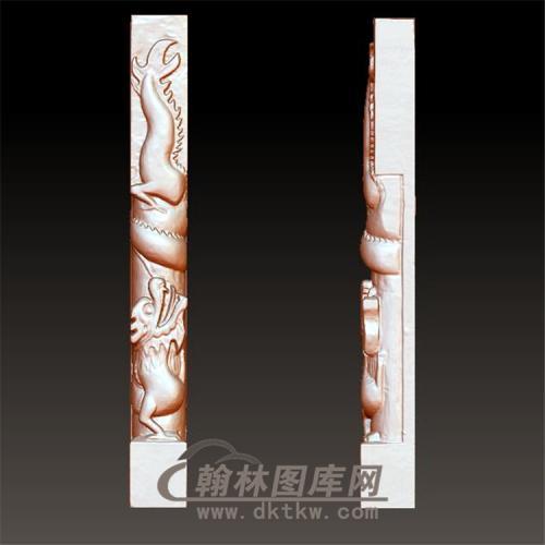 盘龙柱立体圆雕图(YML-014)