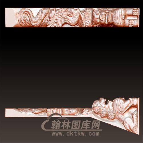 墓碑龙狮立体圆雕图(YML-025)