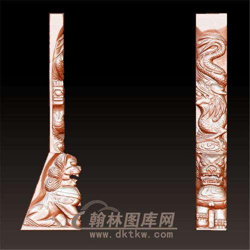 龙狮立体圆雕图(YML-026)