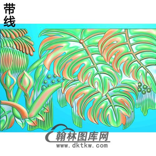 芭蕉精雕图(BJ-062-)