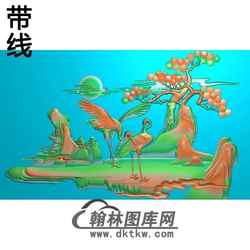 松鹤精雕图(SH-011)