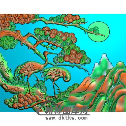 松鹤精雕图(SH-022)