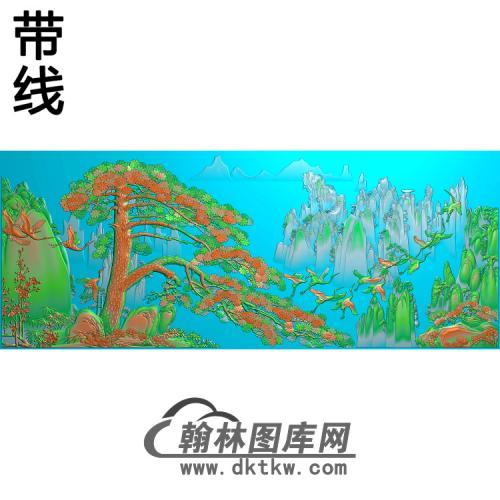 松鹤精雕图(SH-223)