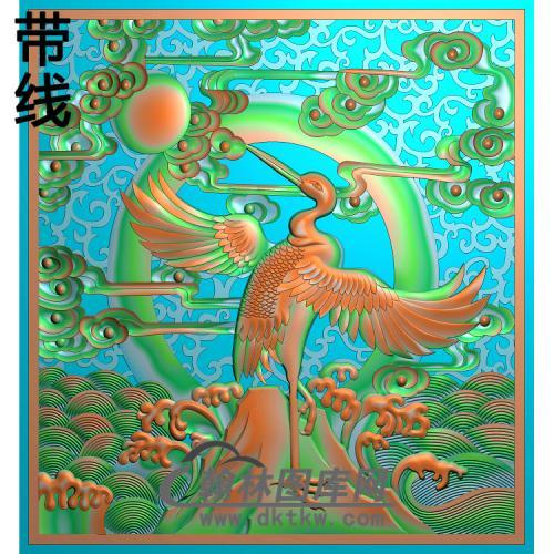 松鹤精雕图(SH-244)