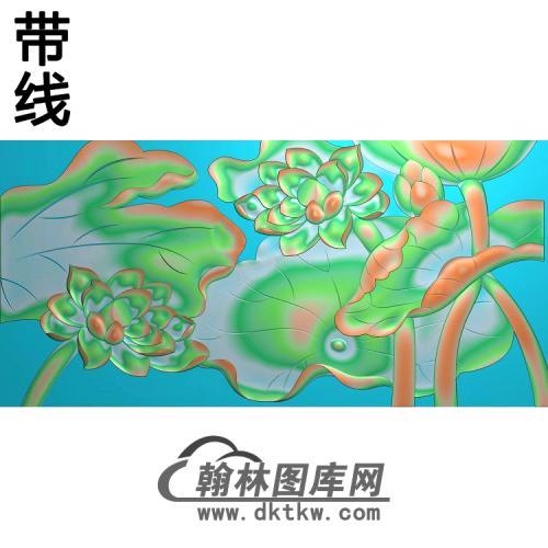 荷花精雕图(HHY-065)
