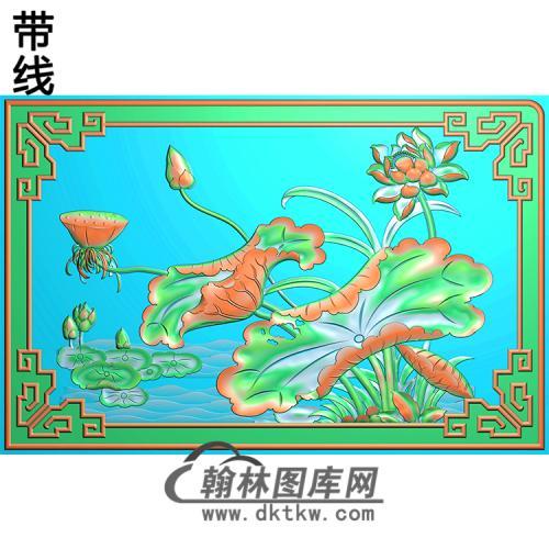荷花精雕图(HHY-102)