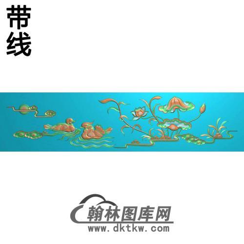 荷花精雕图(HHY-103)