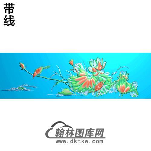 荷花精雕图(HHY-113)