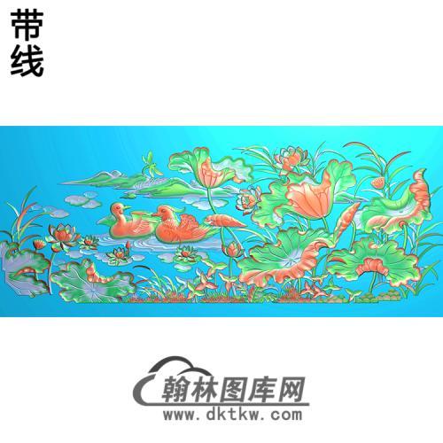 荷花精雕图(HHY-127)