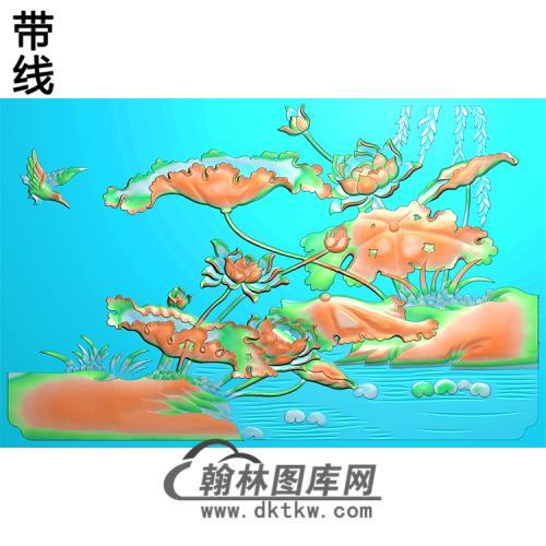 荷花精雕图(HHY-181)