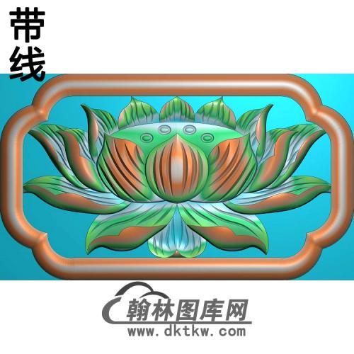 荷花精雕图(HHY-375)