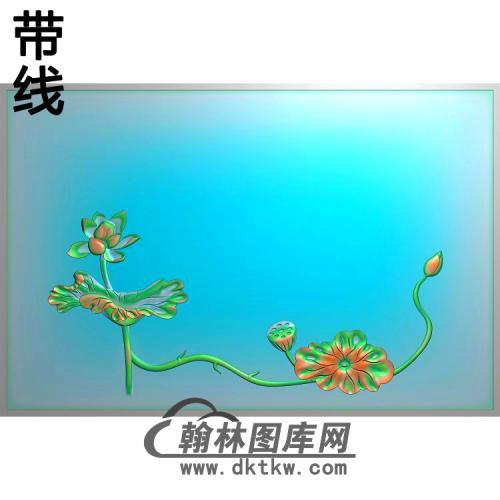 荷花精雕图(HHY-408)