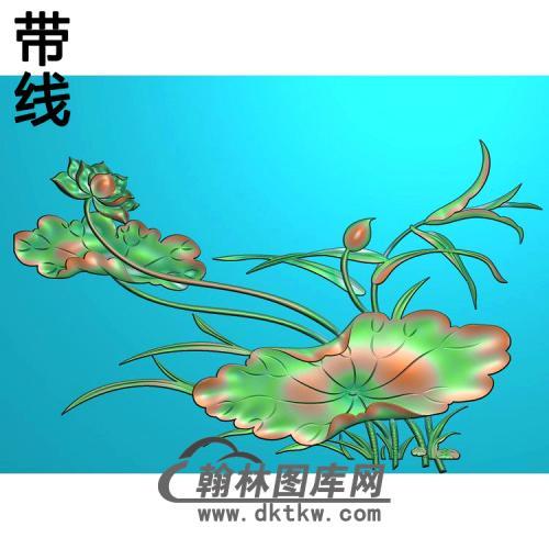 荷花精雕图(HHY-449)